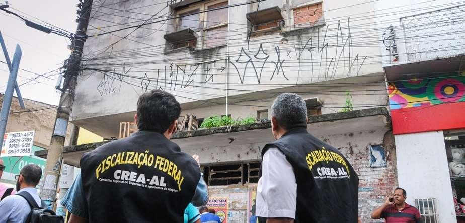Inspeção em prédios antigos Foto:Marco Antônio/Secom Maceió