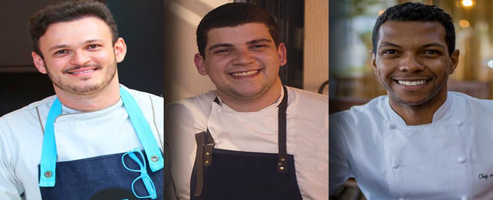 Wanderson Medeiros, Victor Generoso e Jônatas Moreira venceram em três categorias do prêmio Prazeres da Mesa (Foto: divulgação)
