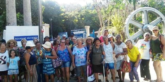 Grupo de idosas visitou o Balneário Águas de de São Bento em Boca da Mata. Foto:Ascom Semas