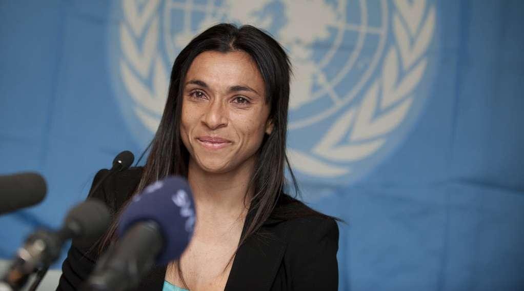 Marta, jogadora de futebol. Foto: PNUD
