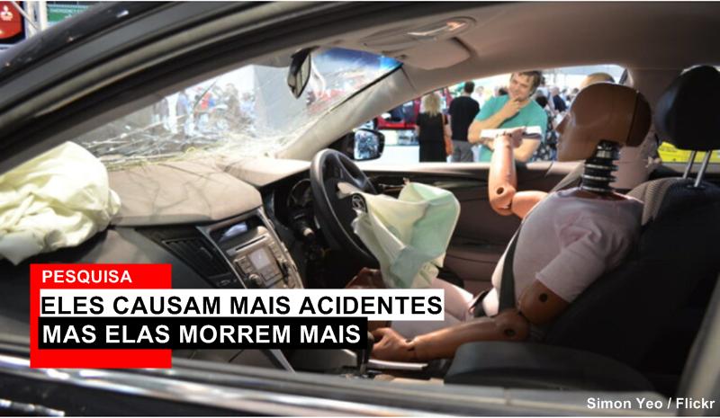 Os bonecos usados nos testes dos carros baseiam-se nos corpos masculinos