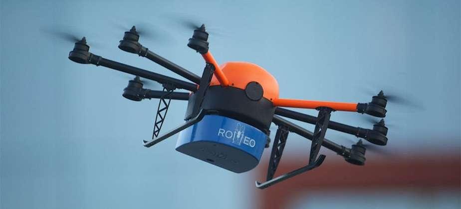 Drone utilizado pela AIEA para transportar mosquitos tornados estéreis pelo uso de radiação. Foto: AIEA/N. Culbert